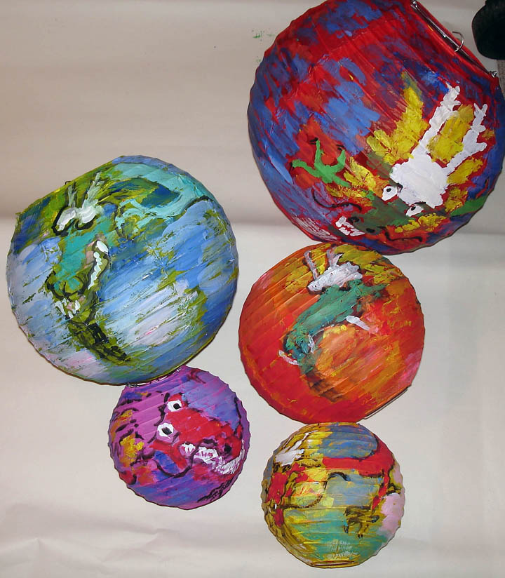 Painted Paper Lanterns Art Studio By Judith Funkhouser