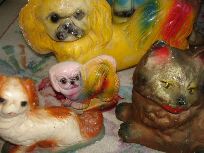 Chalkware more dogs and a cat
